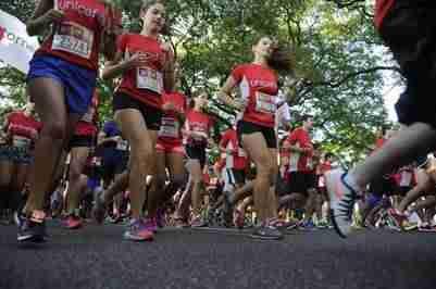 En carrera. La largada fue a las 8.30. Fotos Alfredo Martínez